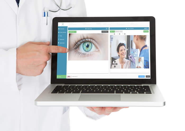 A screen shot of AGNES Connect® is a secure patient assessment tool.